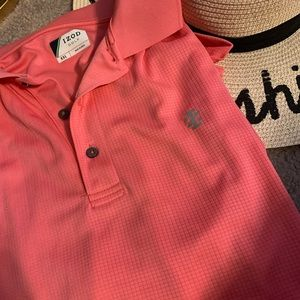 Izod Mens Pink Golf Polo 2XL